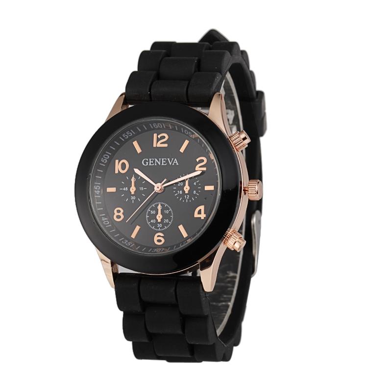 Módní hodinky Geneva Černé