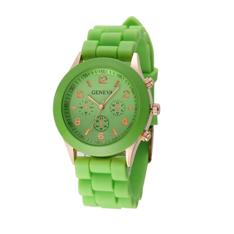 Módní hodinky Geneva Zelené