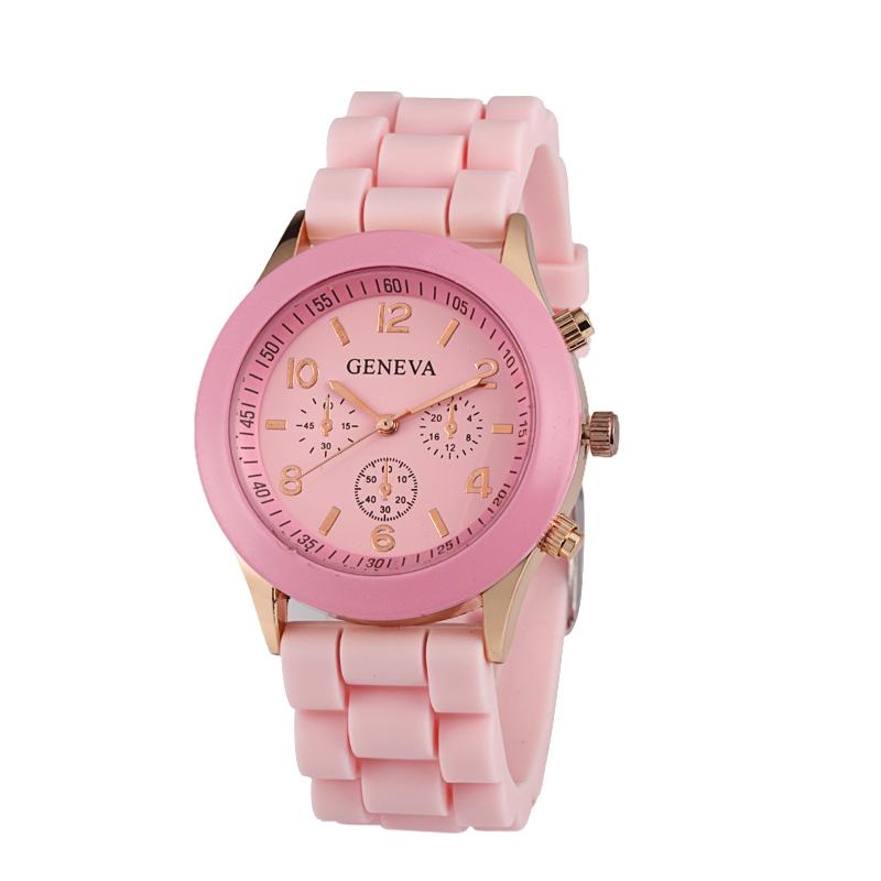 Módní hodinky Geneva dětská Růžová