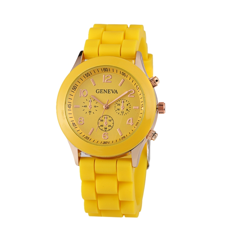 Módní hodinky Geneva Žluté
