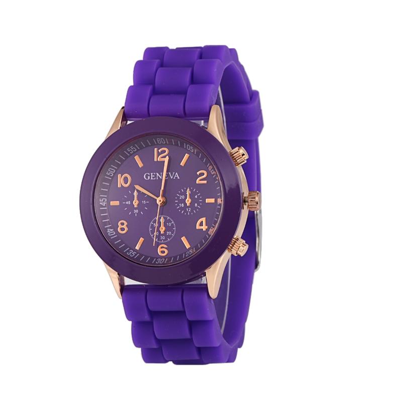 Módní hodinky Geneva Fialové