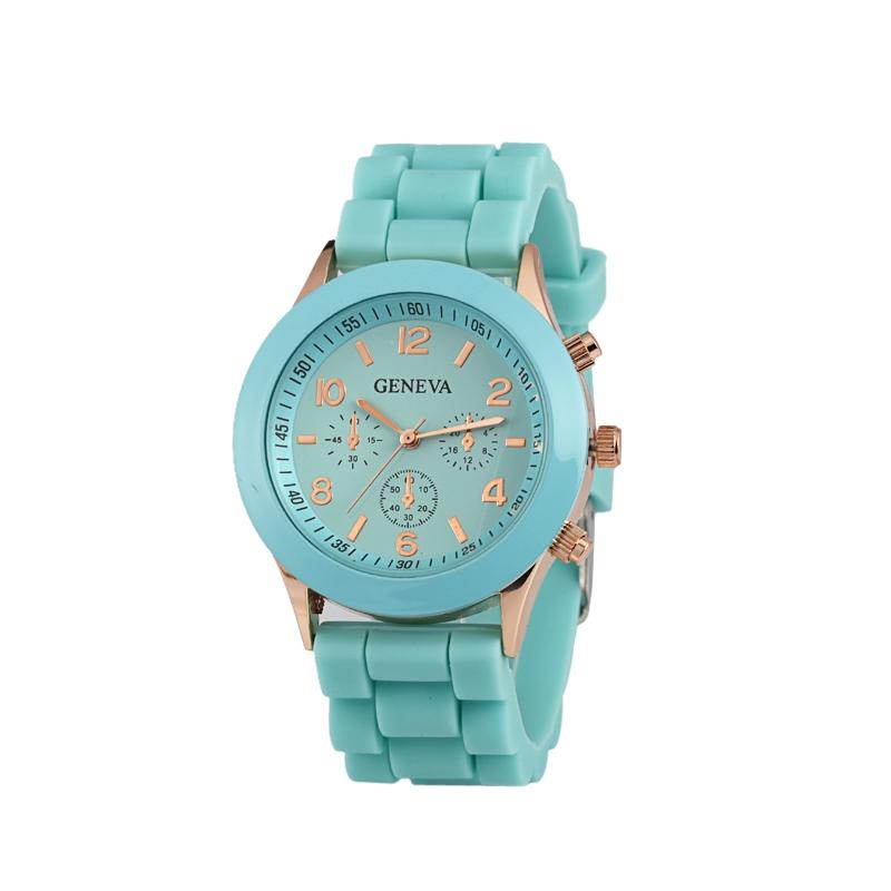 Módní hodinky Geneva Tyrkysové