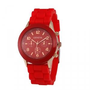 Módní hodinky Geneva Červené