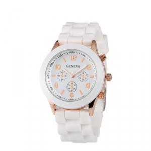 Módní hodinky Geneva Bílé
