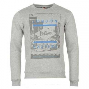 Lee Cooper Crew Sweat Grey Marl